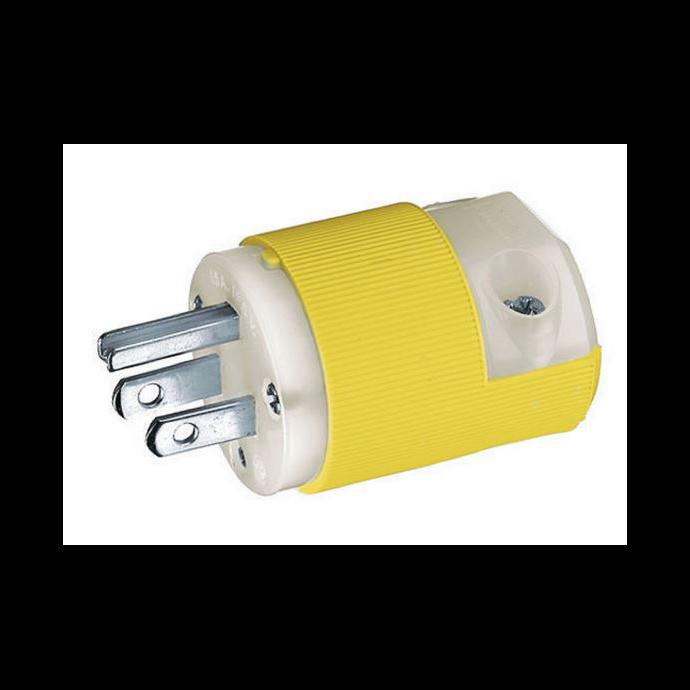 Marine 15 Amp Straight Blade Shore Power Plug & Connector