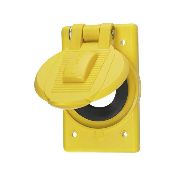 Weatherproof Lift Cover for Straight Blade Receptacles