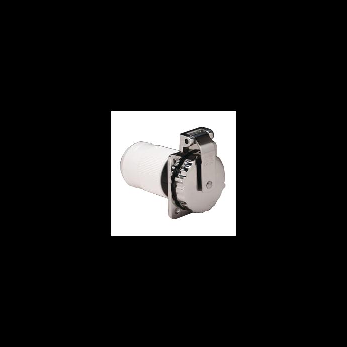 50 Amp 125V Stainless Steel Easy Lock™ Shore Power Inlet