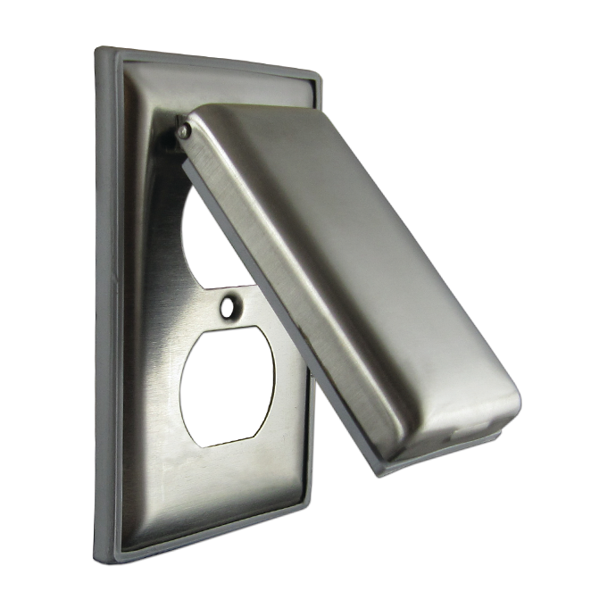 Stainless Steel Weatherproof Cover with Lift Lid
