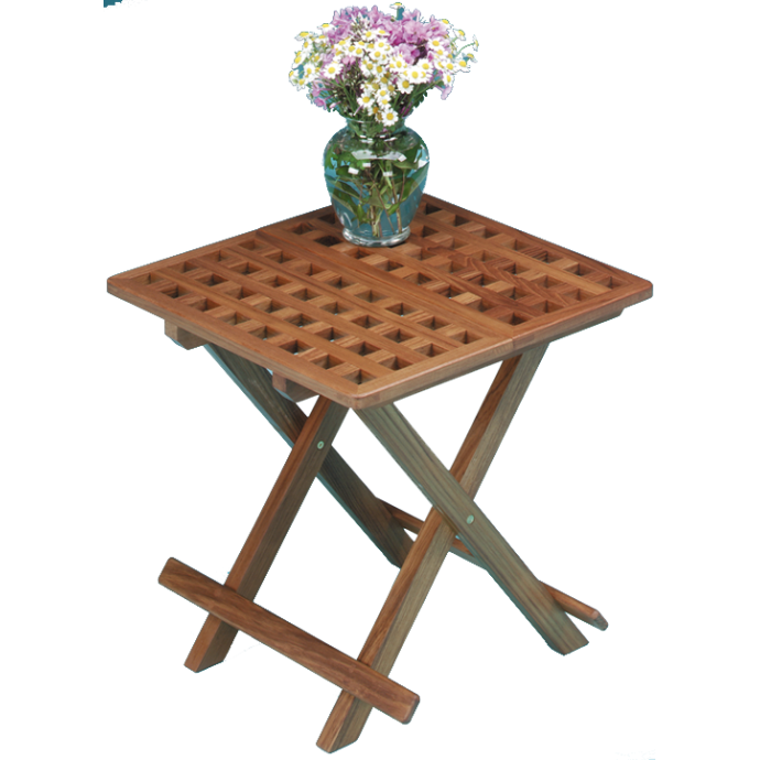 Grate Top Fold-Away Table