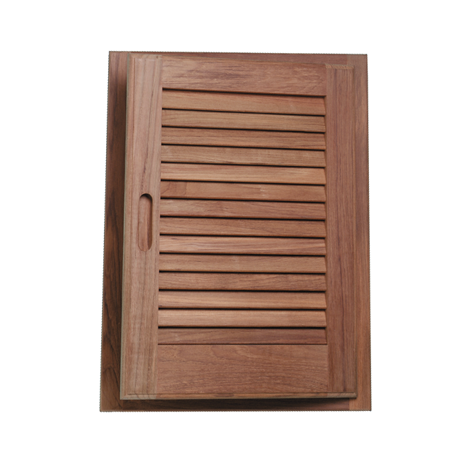 Louvered Teak Door and Frame