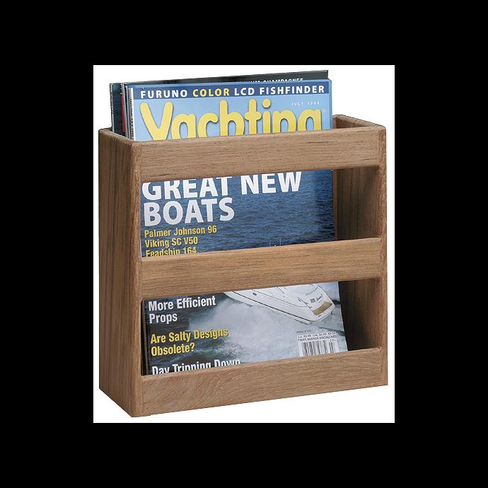 Teak Magazine⁄Utility Rack