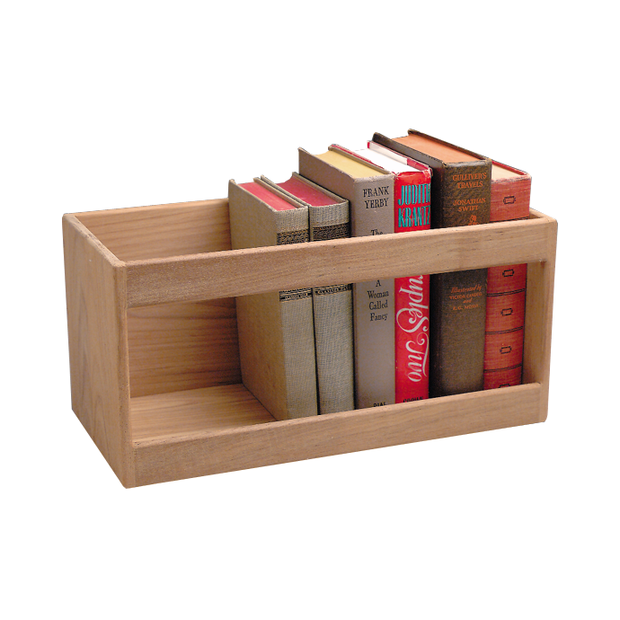Teak Hardcover Book Rack