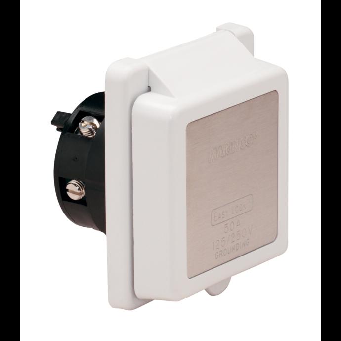 Standard Plastic 50 Amp 125⁄250V Easy Lock™ Shore Power Inlet