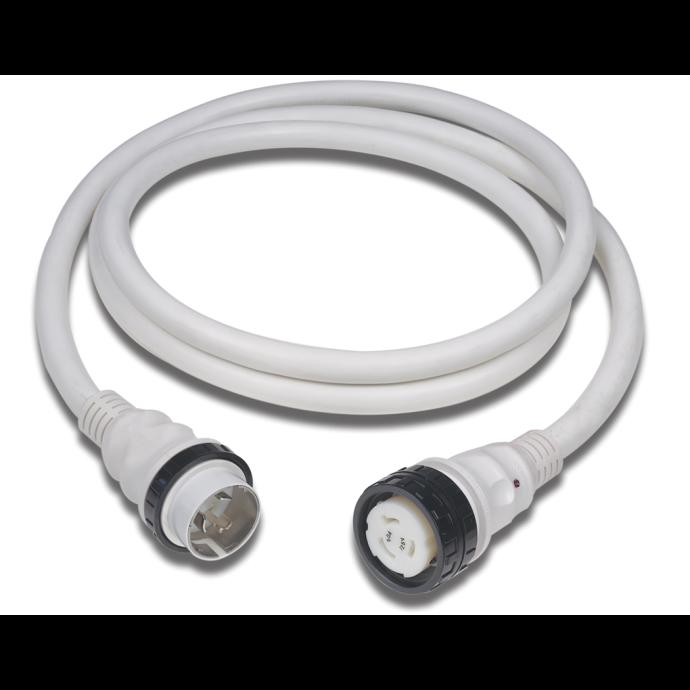 50 Amp 125V Power Cord Plus Cordsets - White 1