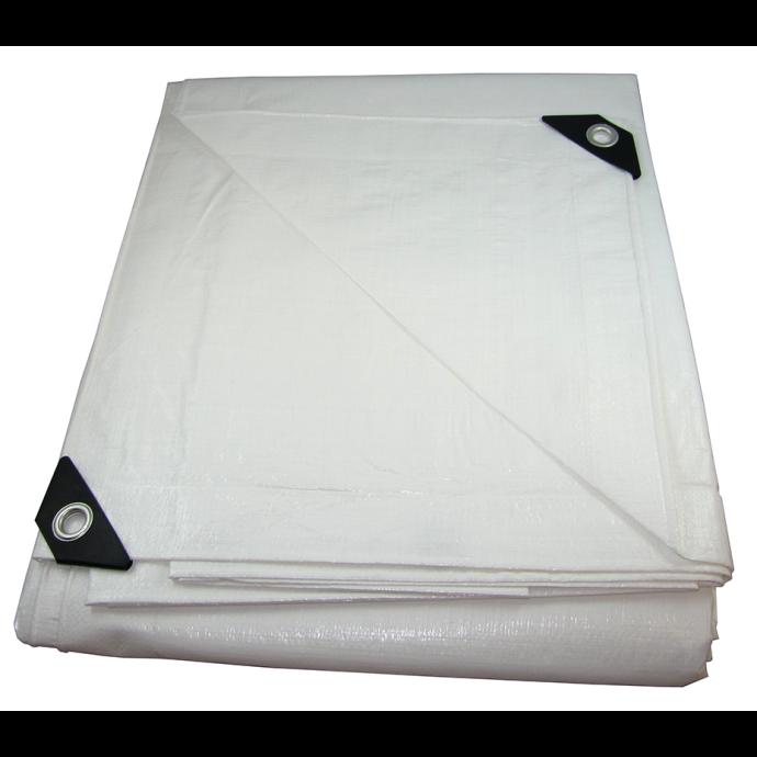 White UV-Resistant Heavy Duty Poly Tarps
