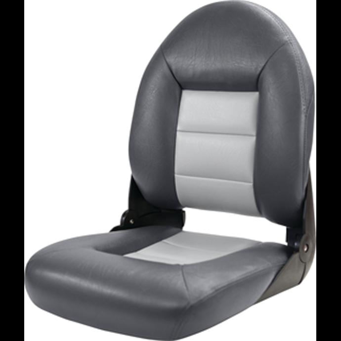 High Back NaviStyle Boat Seat - Charcoal/Gray 1