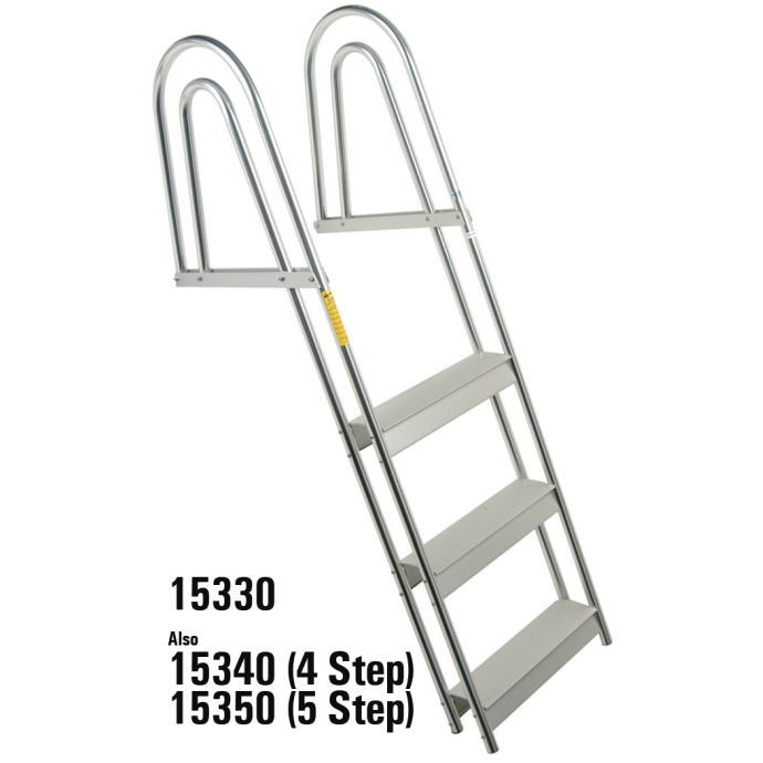 ALU 3 STEP FLIP UP FIXED LADDER