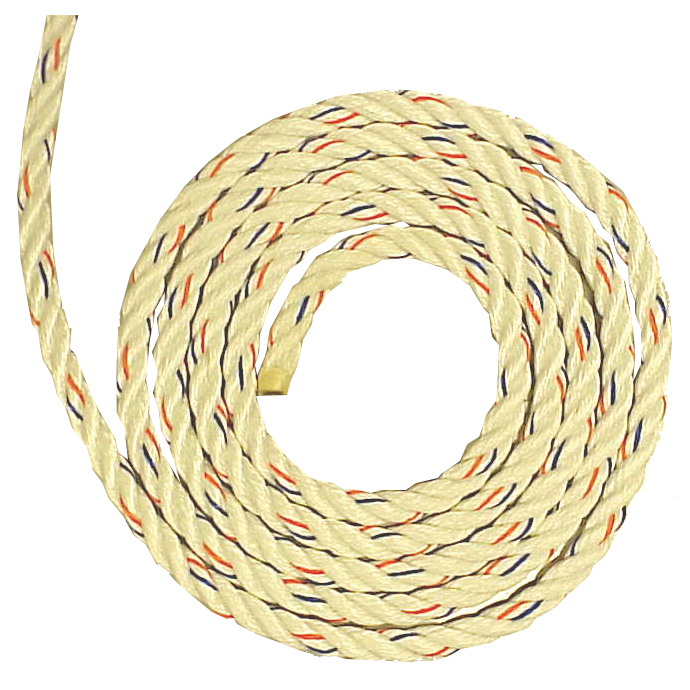 Poly-Plus 3-Strand White Rope