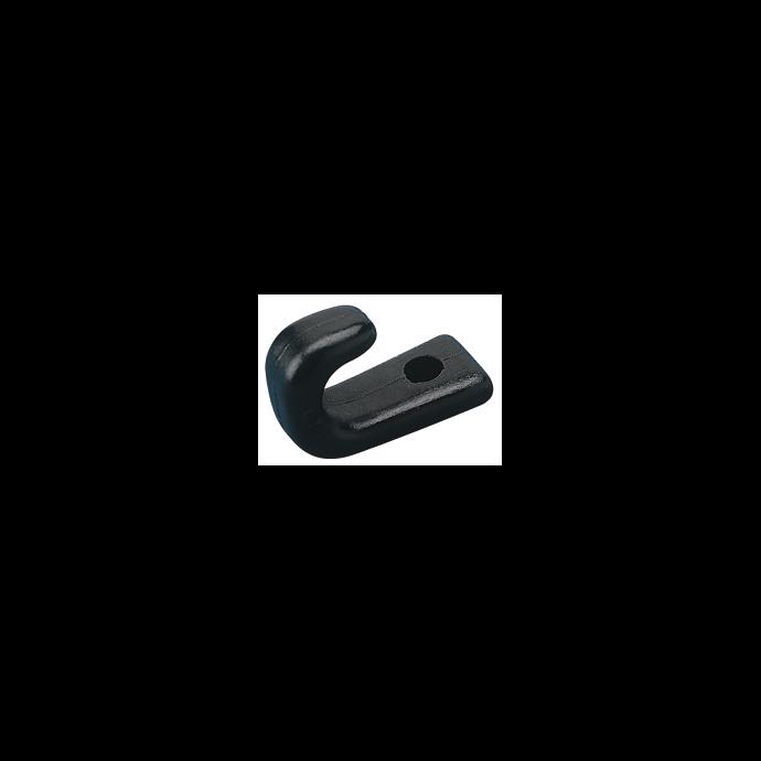 NYLON LASHING HOOKS-BLACK 1 HOLE