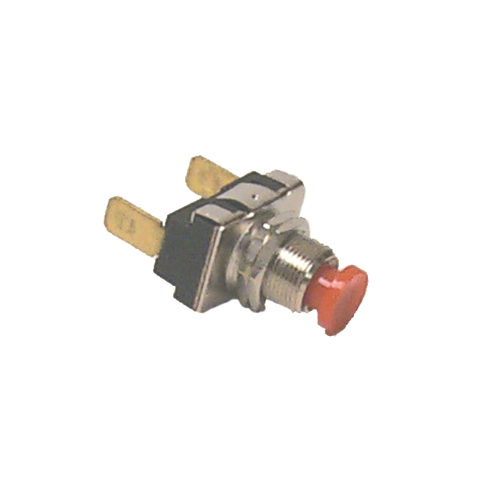 SPST RED BUSH BUTTON SWITCH (ON)/OFF