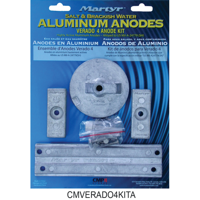 Mercury Verado Anode Kits - Aluminum