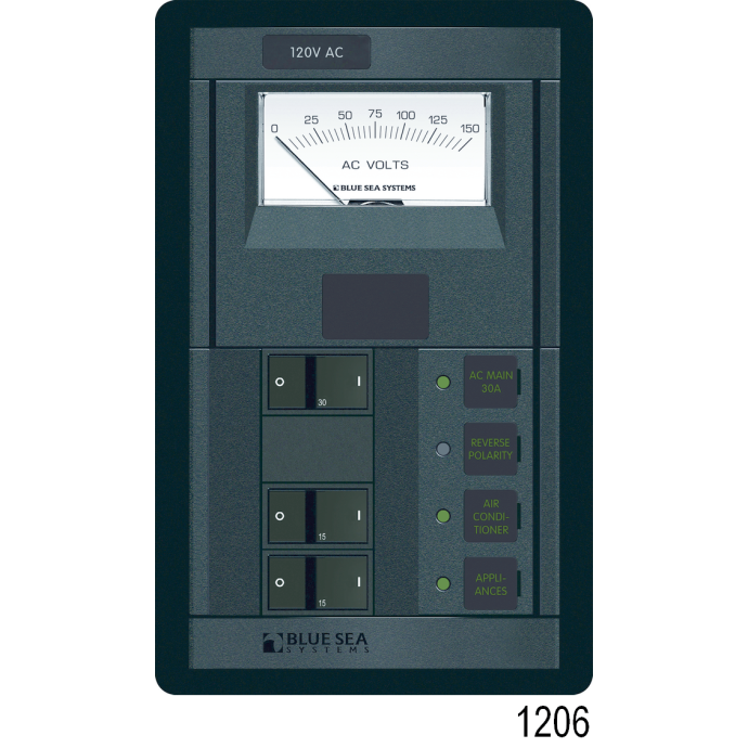 360 Panel System 120 Volt AC Source Selector Panel, Rocker (2 x 50A Double)