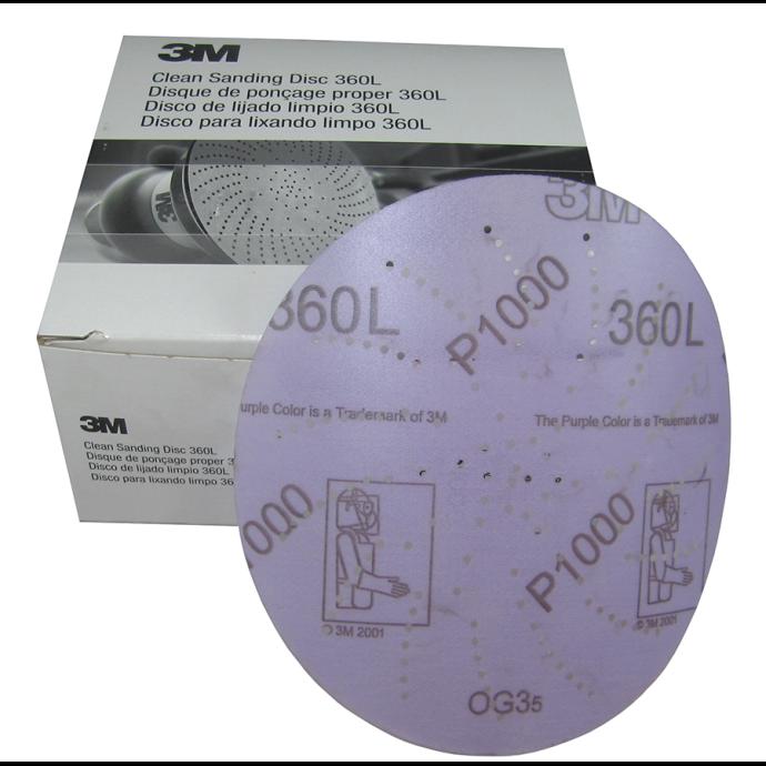 Hookit™ Clean Sanding Abrasive Film-Backed Discs - 360L