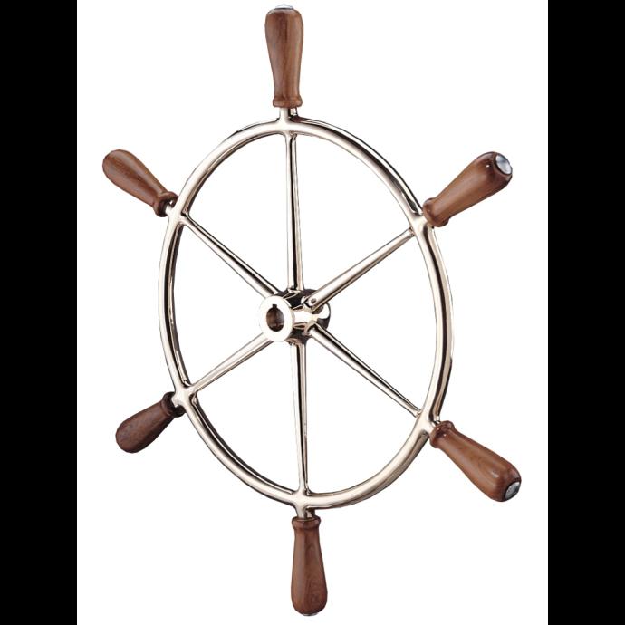 Bronze Wheel with Teak Handles 1