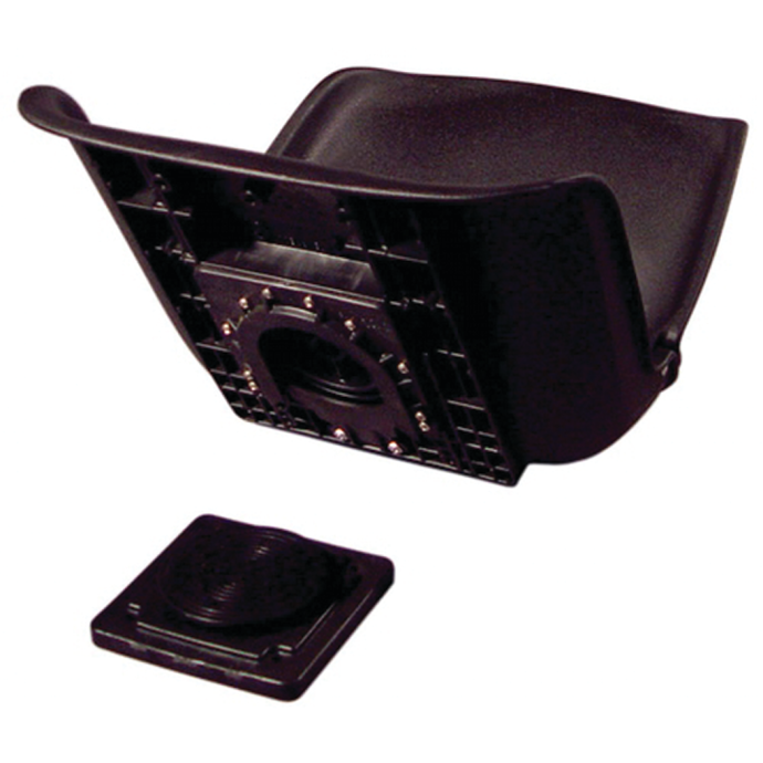 All-Weather Low Back Seat Shell w/ Quick Disconnect Mount - Black 1