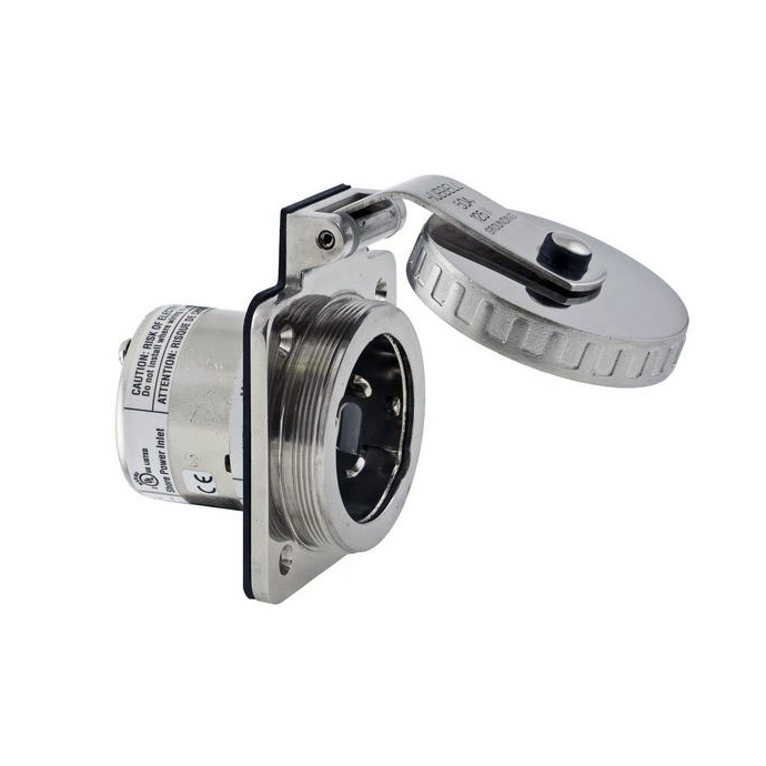 50A 125V Shore Power Inlet - Stainless Steel