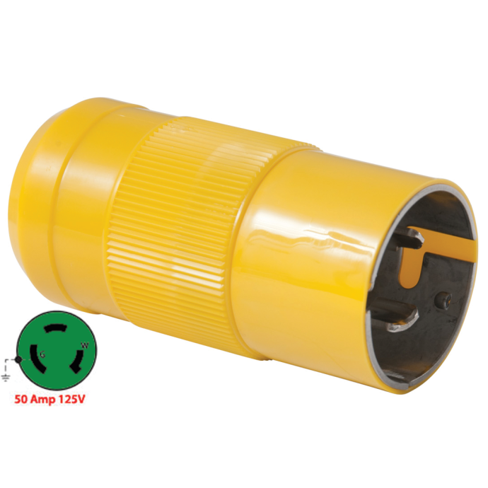 50A 125V Shore Power Plug & Connector