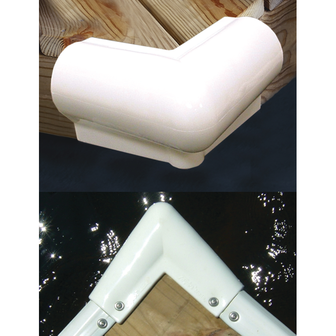 90° Vinyl Corner for Dock Edging
