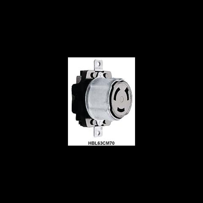 50A 125V Dockside Shore Power Receptacle