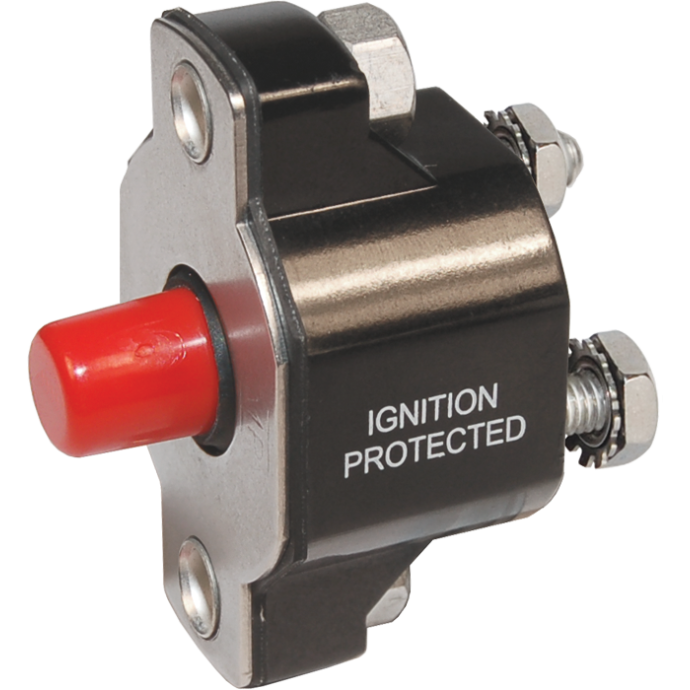 Push-Button Re-Set Thermal Circuit Breakers