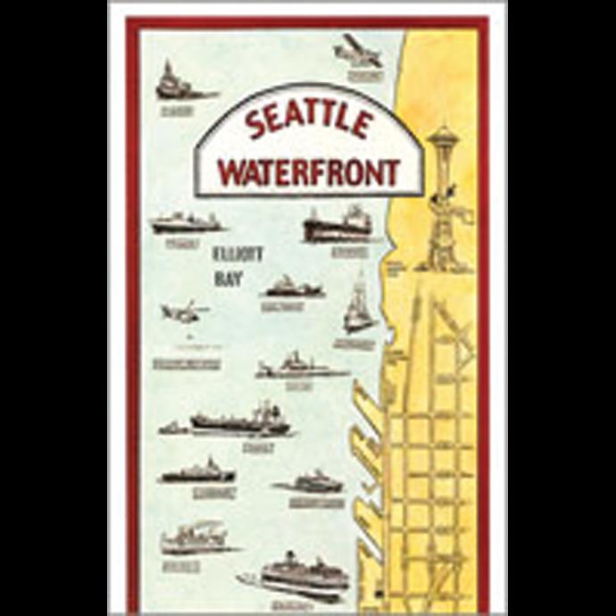 Robert Hale & Co Seattle Waterfront-Card