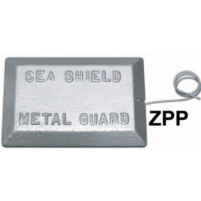 ZPP Plate Anode with Copper Pigtail - Zinc