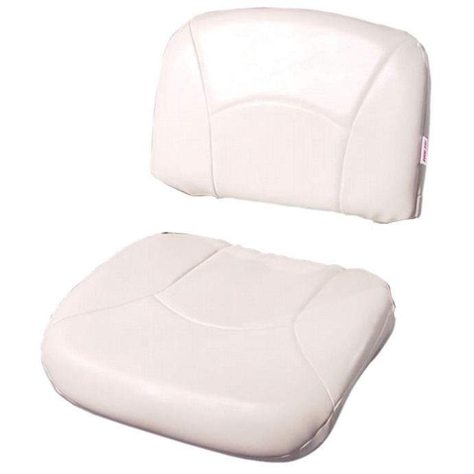 High Back All-Weather/Profile Replacement Cushion - White/White 1