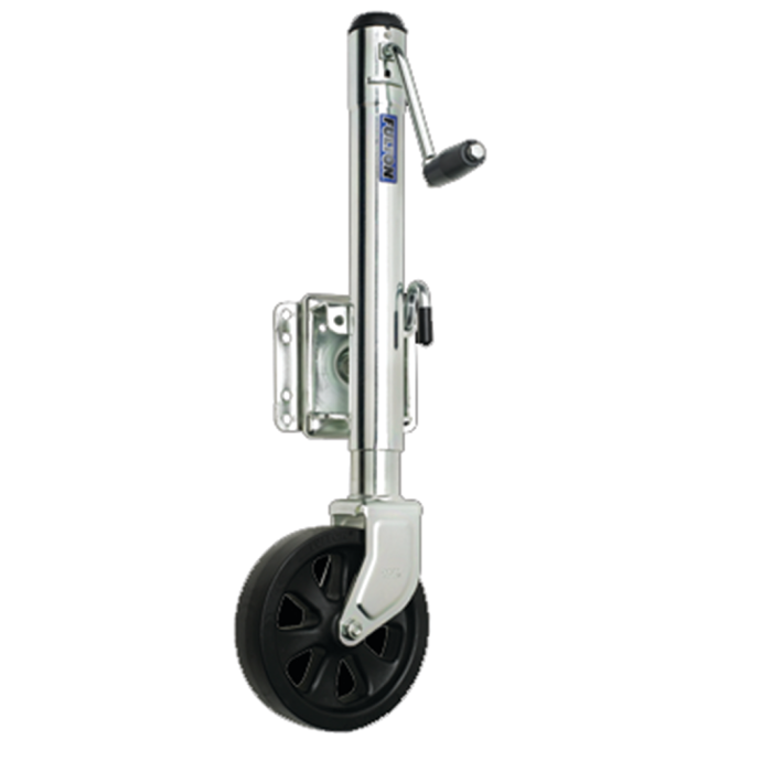 "Bolt-On Swing-Away Side Wind Jack - 1500 lb, 10"" Travel, Single 8"" Wheel 1"