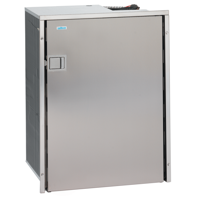 Cruise 130 Stainless Steel AC DC Refrigerator Freezer - 4.6 Cu Ft,130 Liter 1