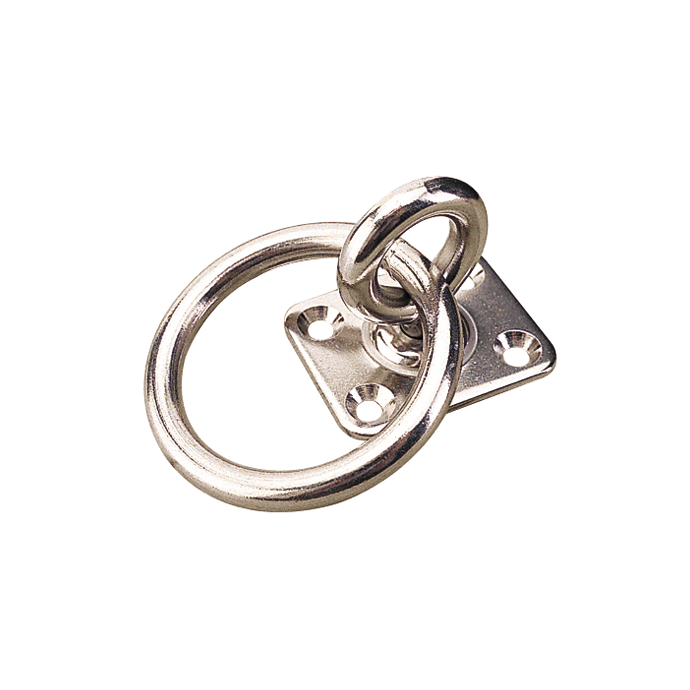 SS Swivel Eye Plate with Ring