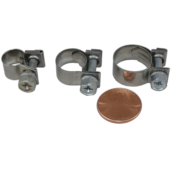 """304 SS """"Micro"""" Solid Band Hose Clamps 1"""