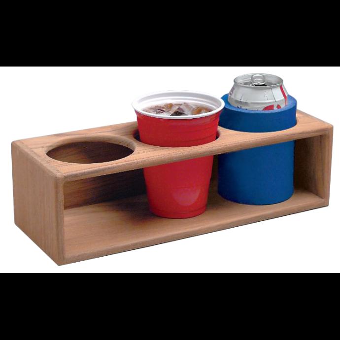 Teak Three Insulated Drink or Bottle Rack 1