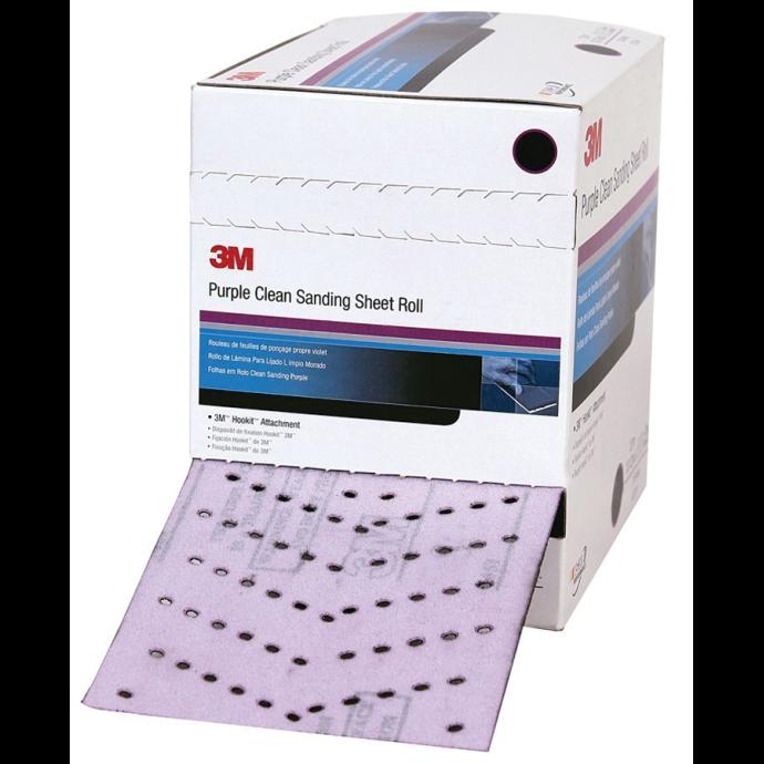 "Discontinued: Hookit 4-1/2"" Purple Clean Sanding Sheet Roll - 334U, 734U, 745I & 740I 1"