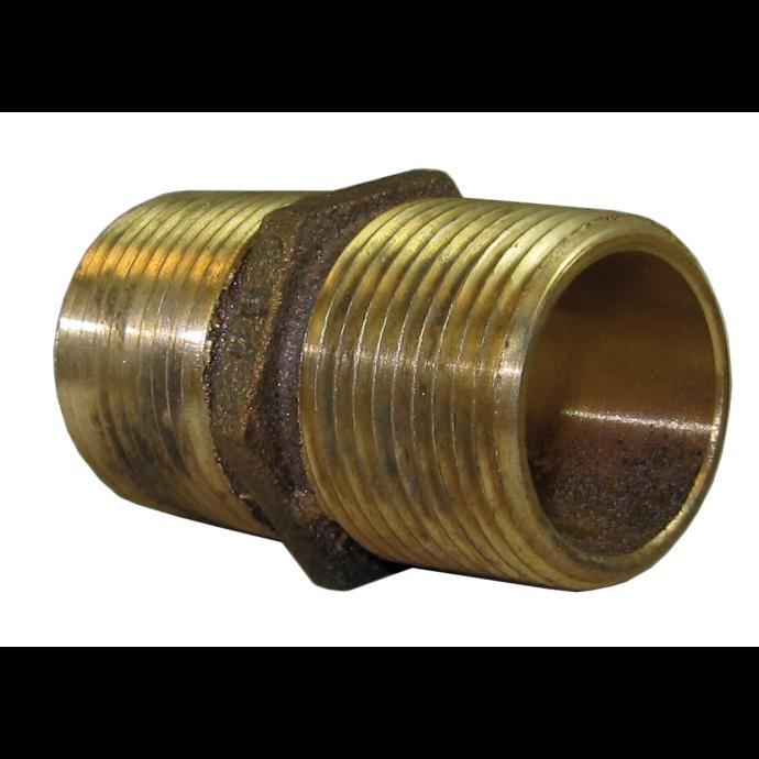 Hex Pipe Nipple - Cast Bronze 1