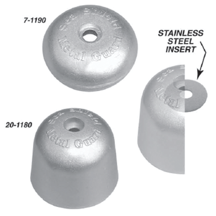 Side Power Bowthruster Anodes - Aluminum 1