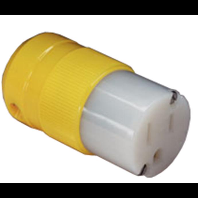 Marine 15 Amp Straight Plug & Connector
