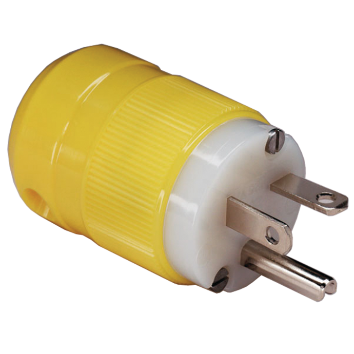 20A 125V Straight Blade Plug, Connector & Receptacle
