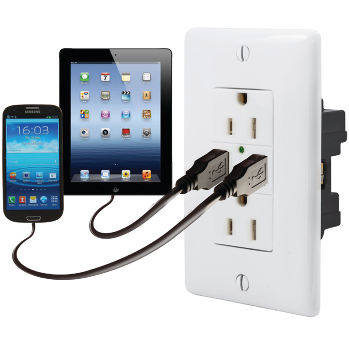 Duplex Receptacle with Dual USB Charging Ports 1