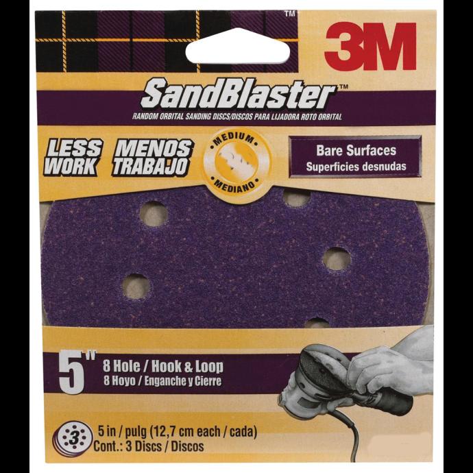 Hookit SandBlaster Dust Free Sanding Discs - Retail Packs 1