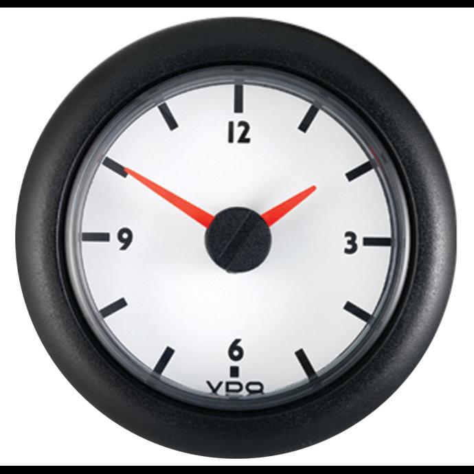 """2-1/16"""" Analog Clock 12V DC - White Dial 1"""