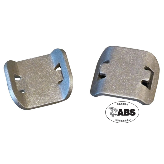 "AT-9 Glue-On Aluminum Wire Tie Mounts - Use With Up to 3/8"" Wide Wire Ties 1"