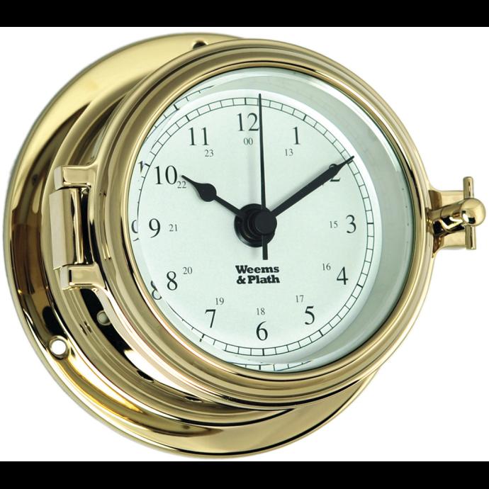 Endurance II 105 Quartz Clock - Brass with Arabic Numerals 1