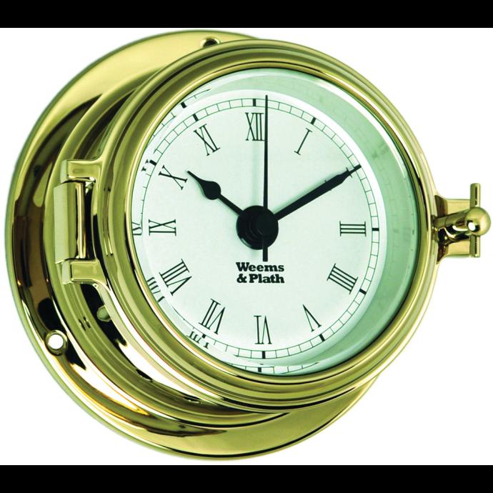 Endurance II 105 Quartz Clock - Brass with Roman Numerals 1