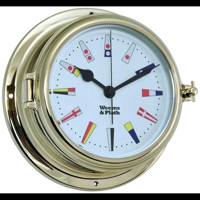 Endurance II 135 Quartz Clock 12 Hour Flag Dial - Brass 1