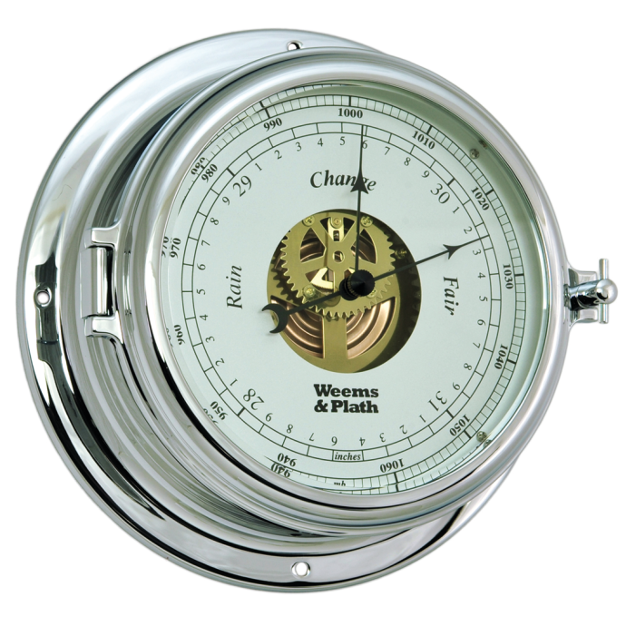 Endurance II 135 Open Dial Chrome Barometer - Chrome 1