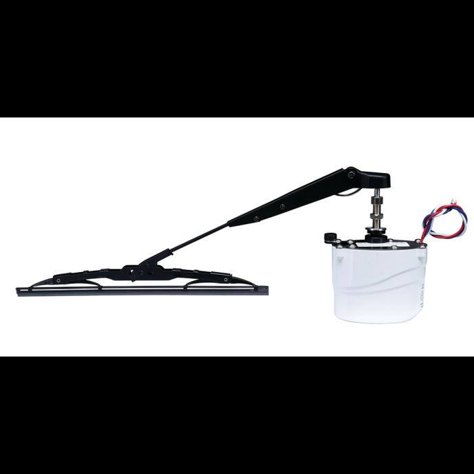 Light Duty Waterproof Wiper Motor Kit with Arm & Blade - White Motor Case 1