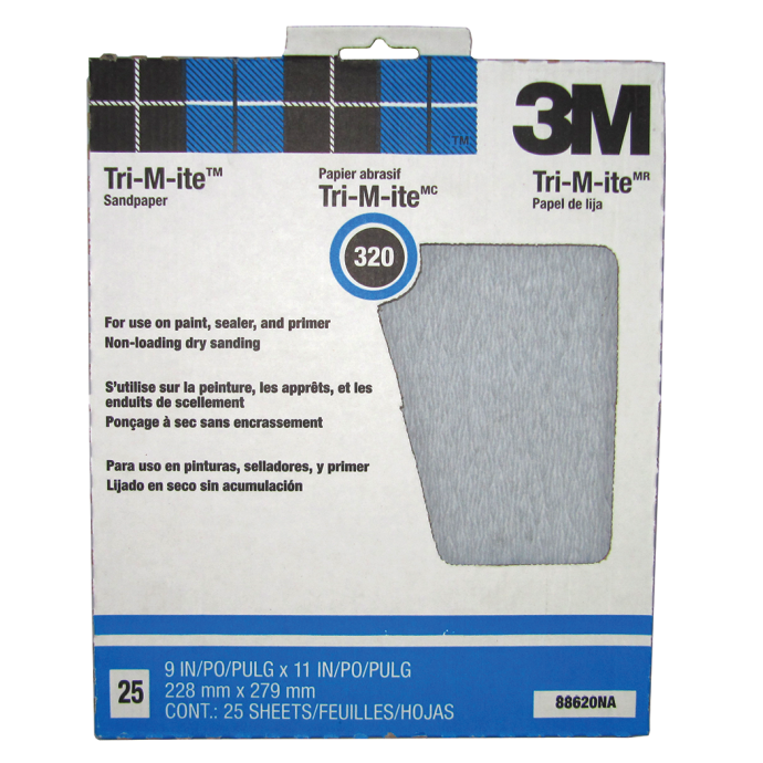 Tri-M-ite Silicon Carbide Paper Sheets - 426U, 25 Pack 1