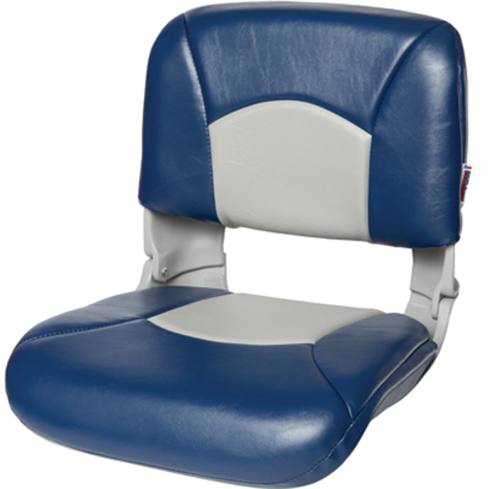 High Back All-Weather Boat Seat & Cushion Combo - Blue 1